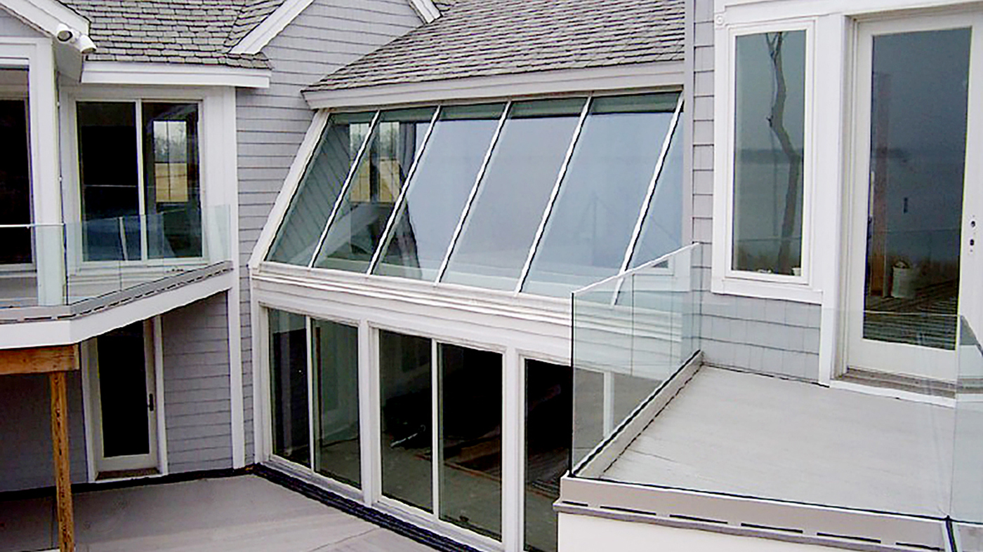 Two single slope skylights