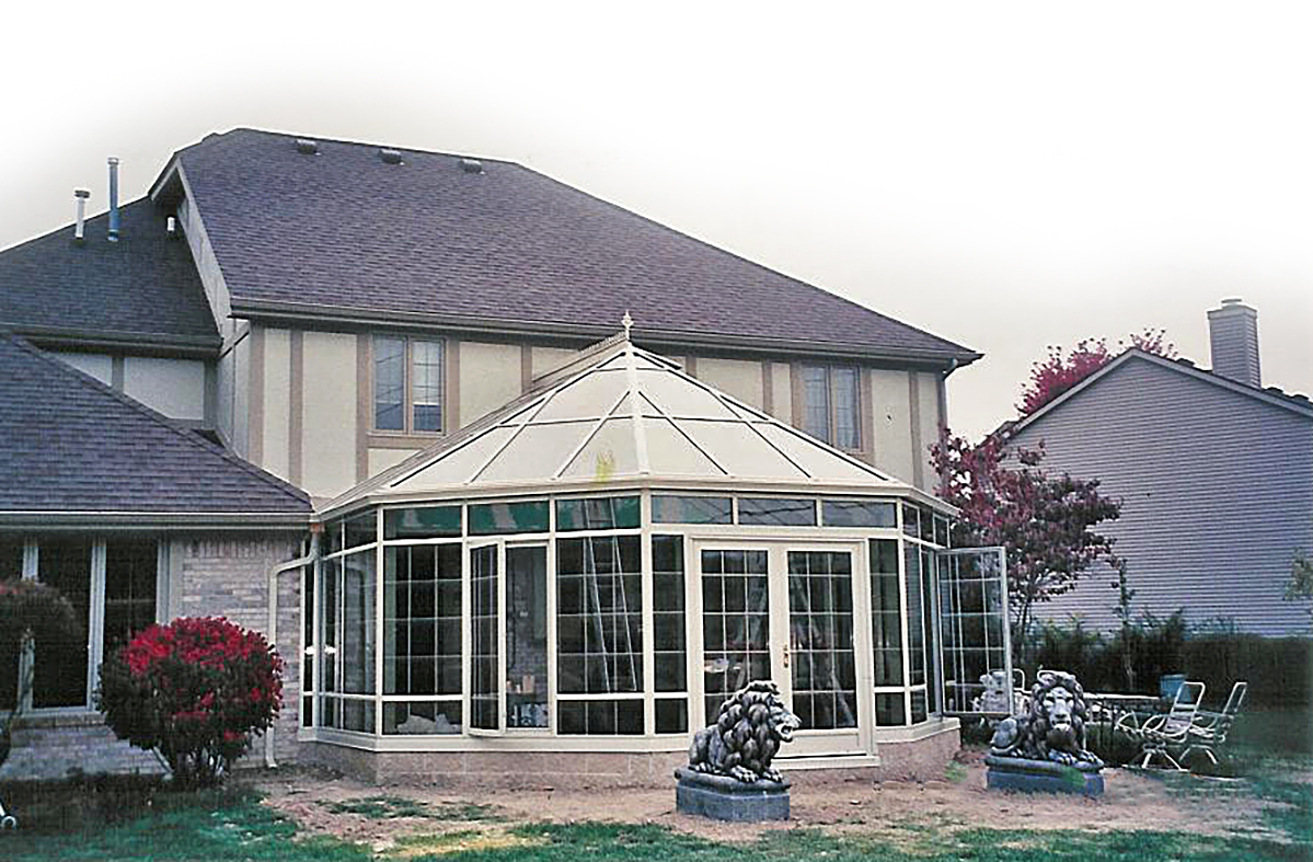 Conservatory glass replacement.