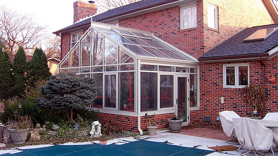 Greenhouse with Before photo