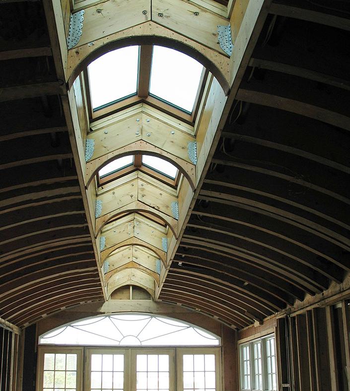 Copper clad double pitch ridge skylight