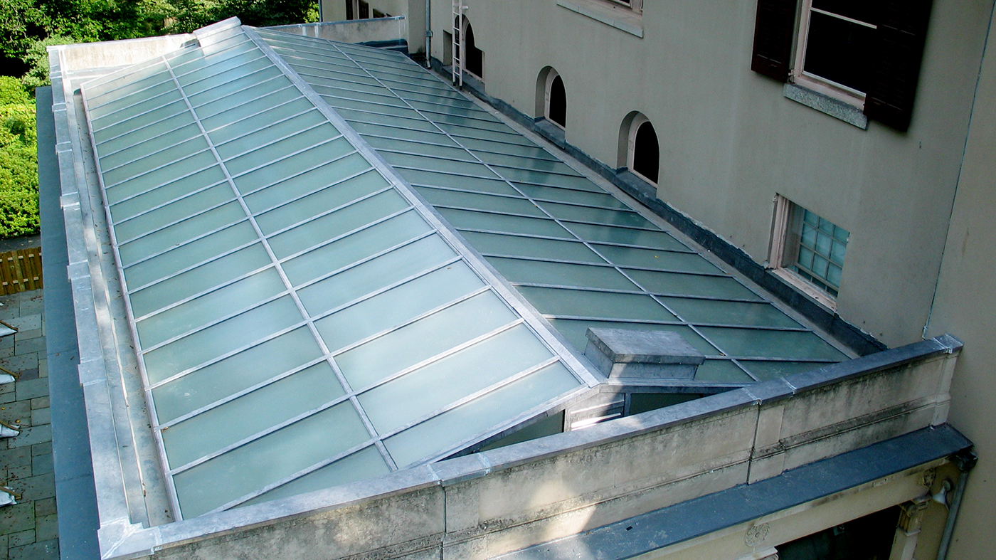 Lead coated copper straight eave double pitch skylight