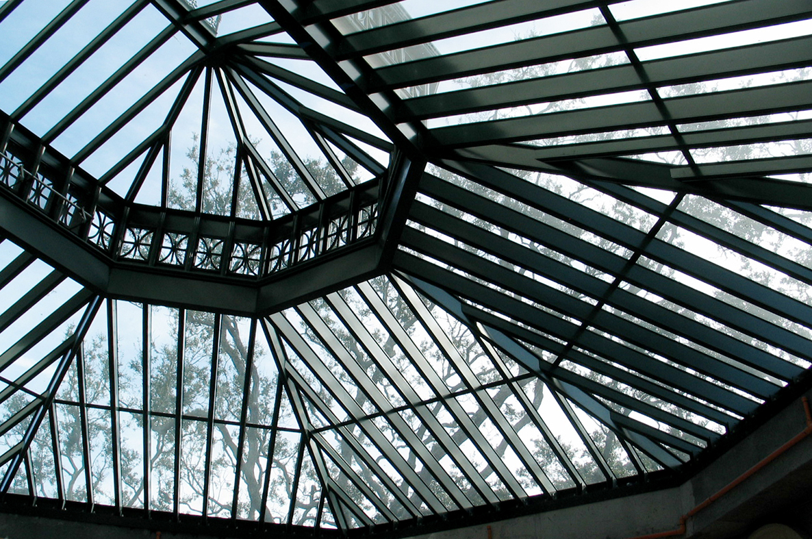 Straight eave double pitch skylight with lantern
