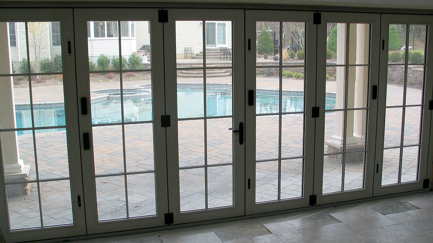 Pool house with bifold doors