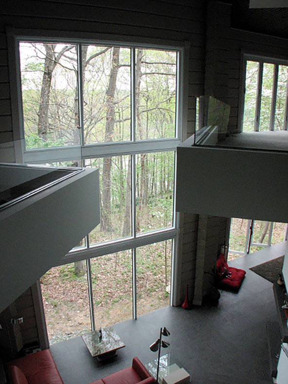 Two residential curtain walls and four folding walls with all wall configurations and standard sills.