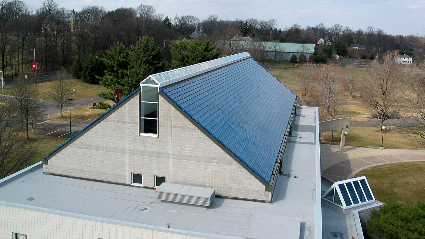 Straight eave double pitch ridge skylight