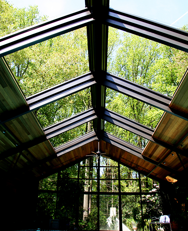 Retractable skylight