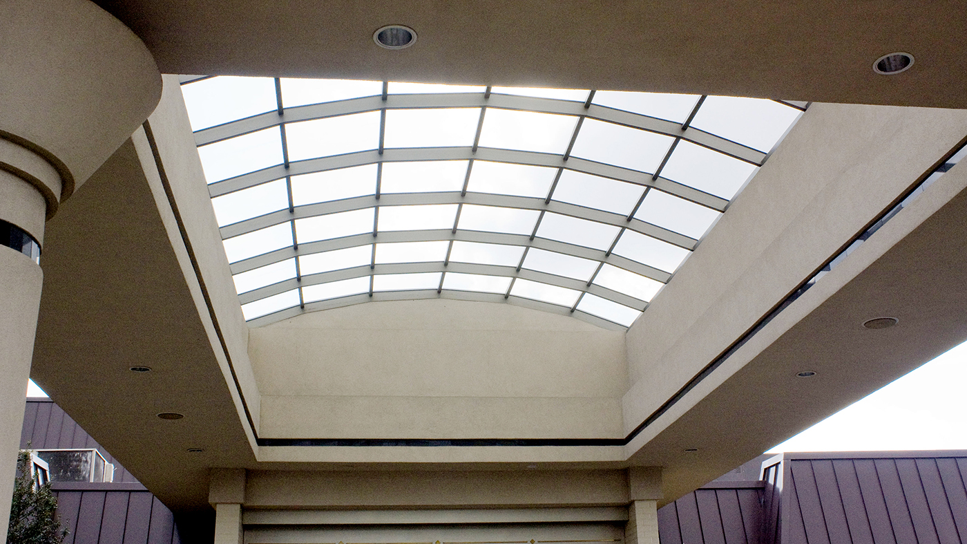 Commercial Segmented, barrel vault canopy at Eden Resort