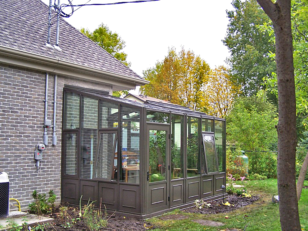 Straight eave double pitch greenhouse & straight eave lean-to greenhouse.