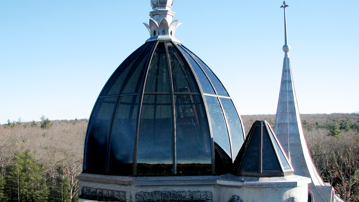 Dome and polygonal skylight atop a castle!