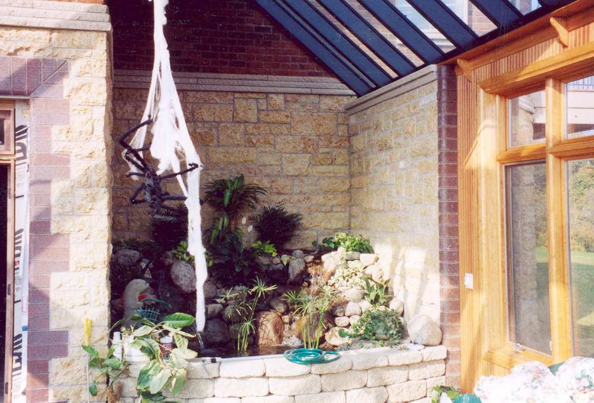 Straight eave, double pitch skylight with a conservatory nose and a decorative Bull Nose Lantern.