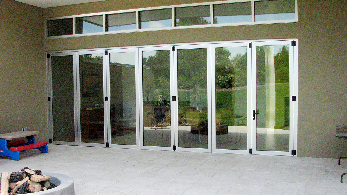 Single Door (hinge jamb), Top Load , Fold Out, 3 Panels Fold Left, 1 Panels Fold Right, Recessed Sill