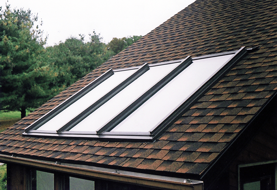 Flat skylight with removable shades using the FGS system