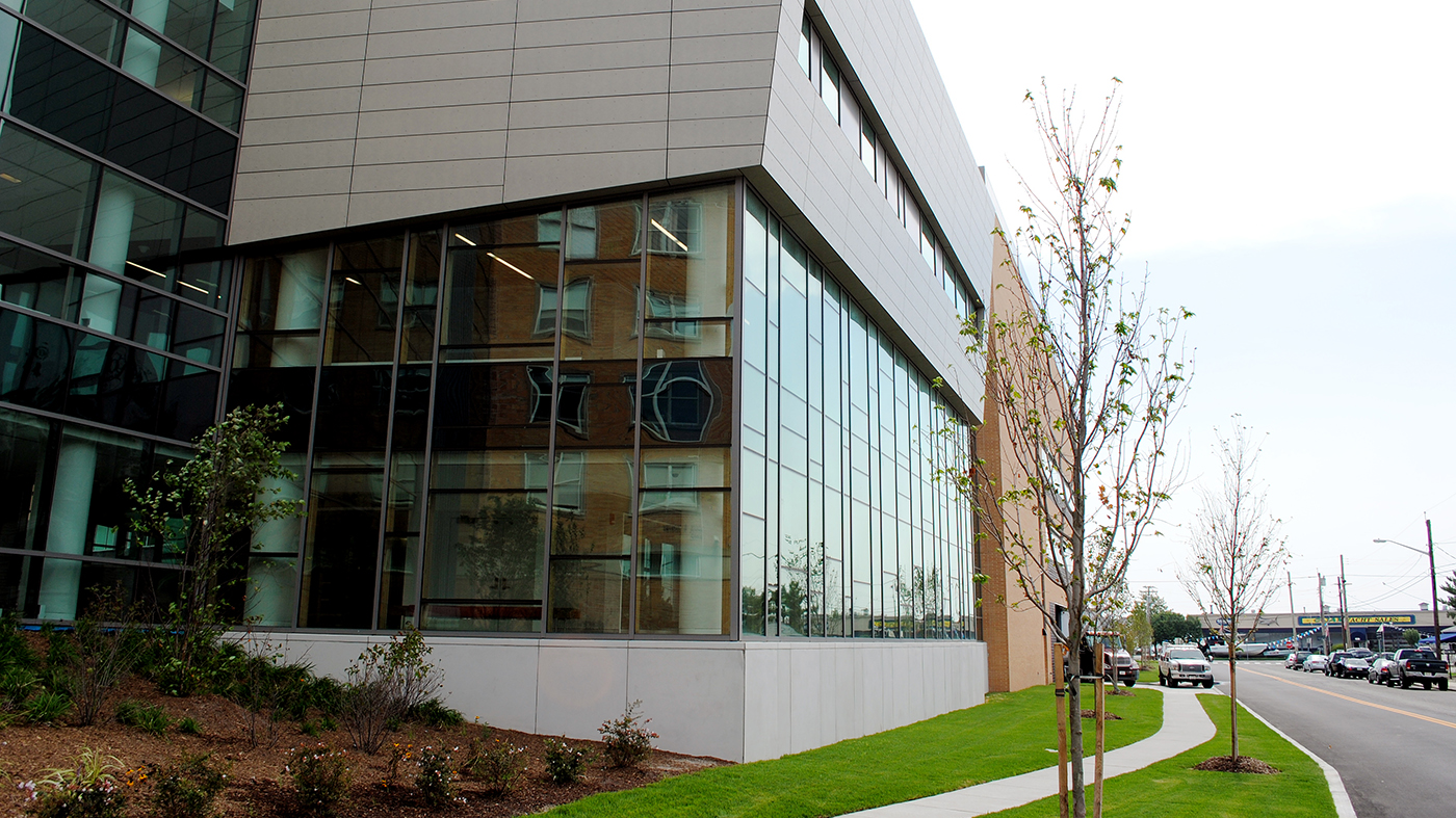 Impact Certified Wood Curtain Wall used in Medical Center.