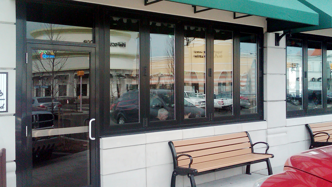 Folding Glass Wall system used in dining applications.
