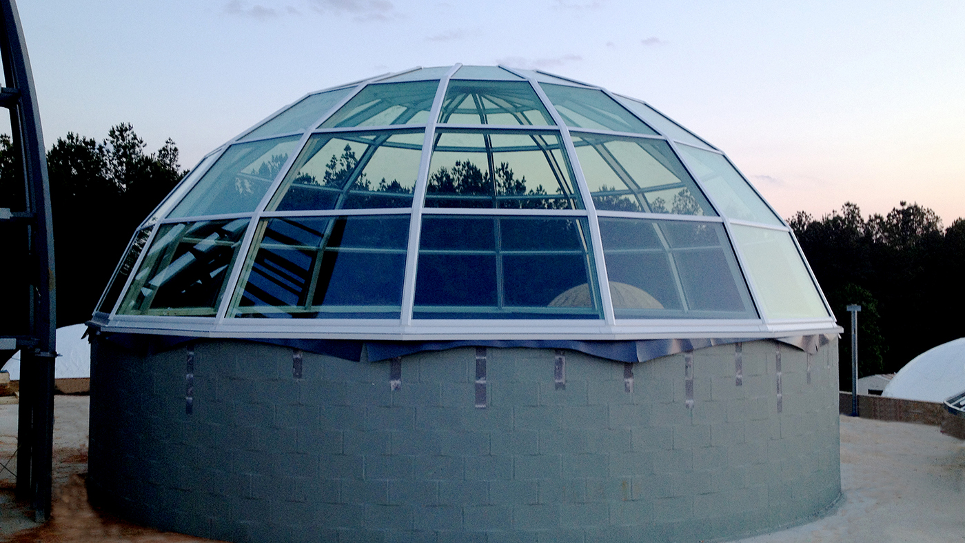 Segmented radius dome skylight