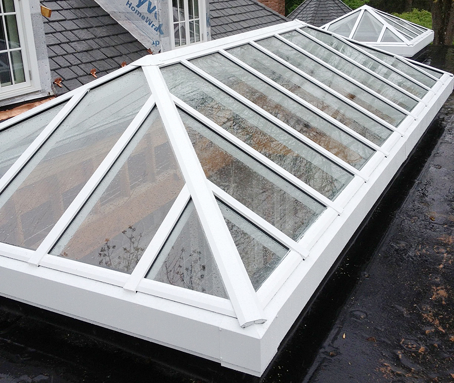 Double pitch and pyramid skylights