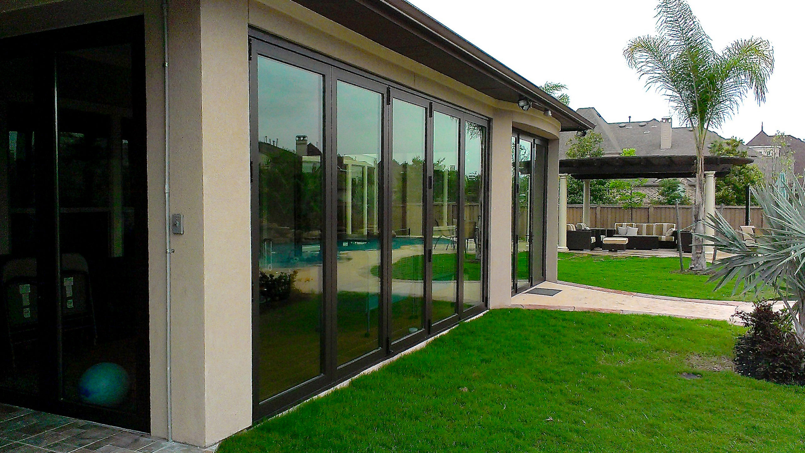 Four sets of bifold doors