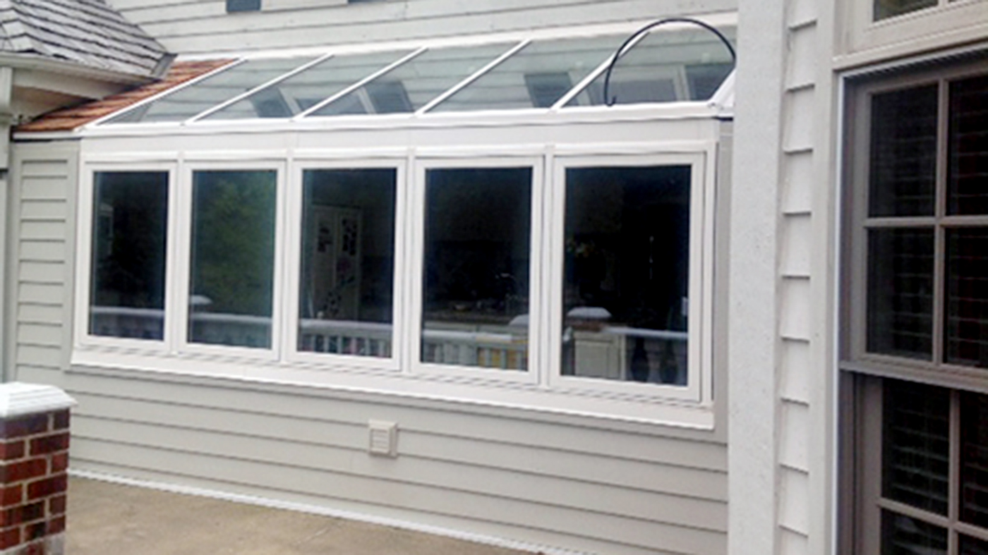 Straight eave lean to sunroom