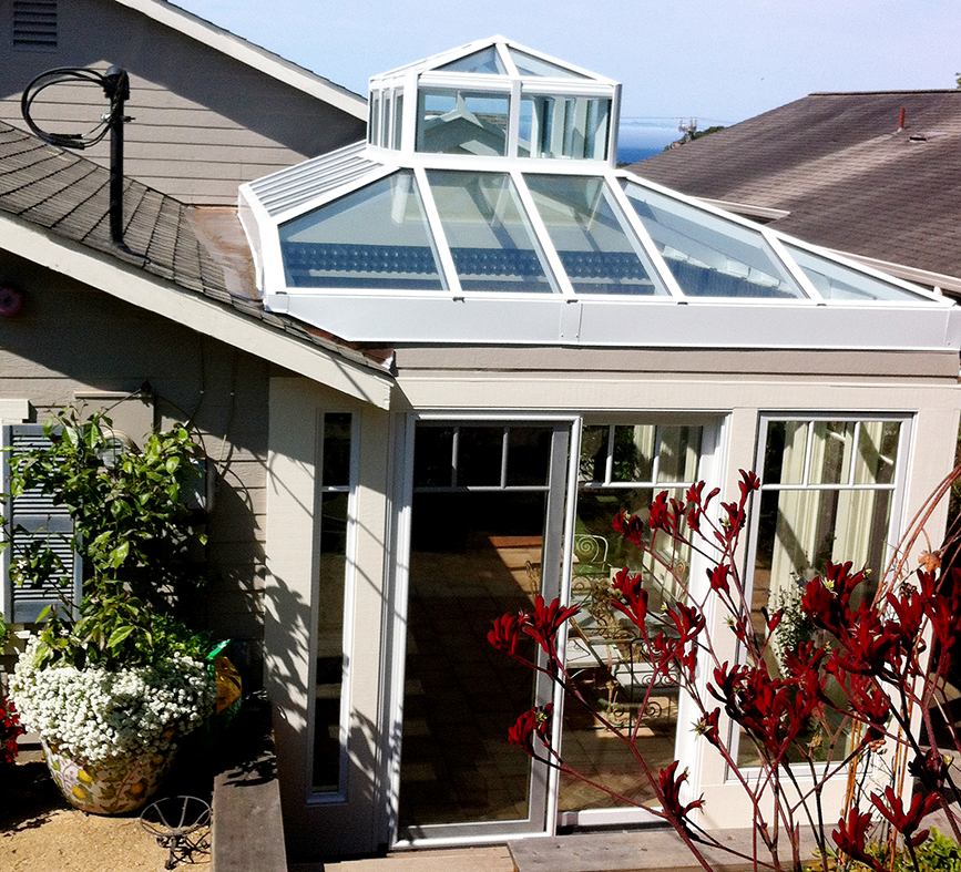 Hip end Double pitch skylight with lantern