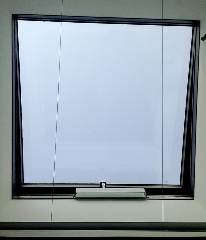 Operable skylight with WindowMaster