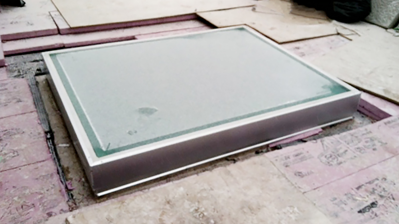 Two SI5500 Walkable Skylights featuring anti-slip on walking surface.