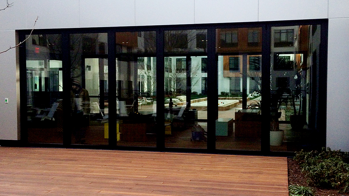 Features multiple folding glass wall systems with all wall configurations.