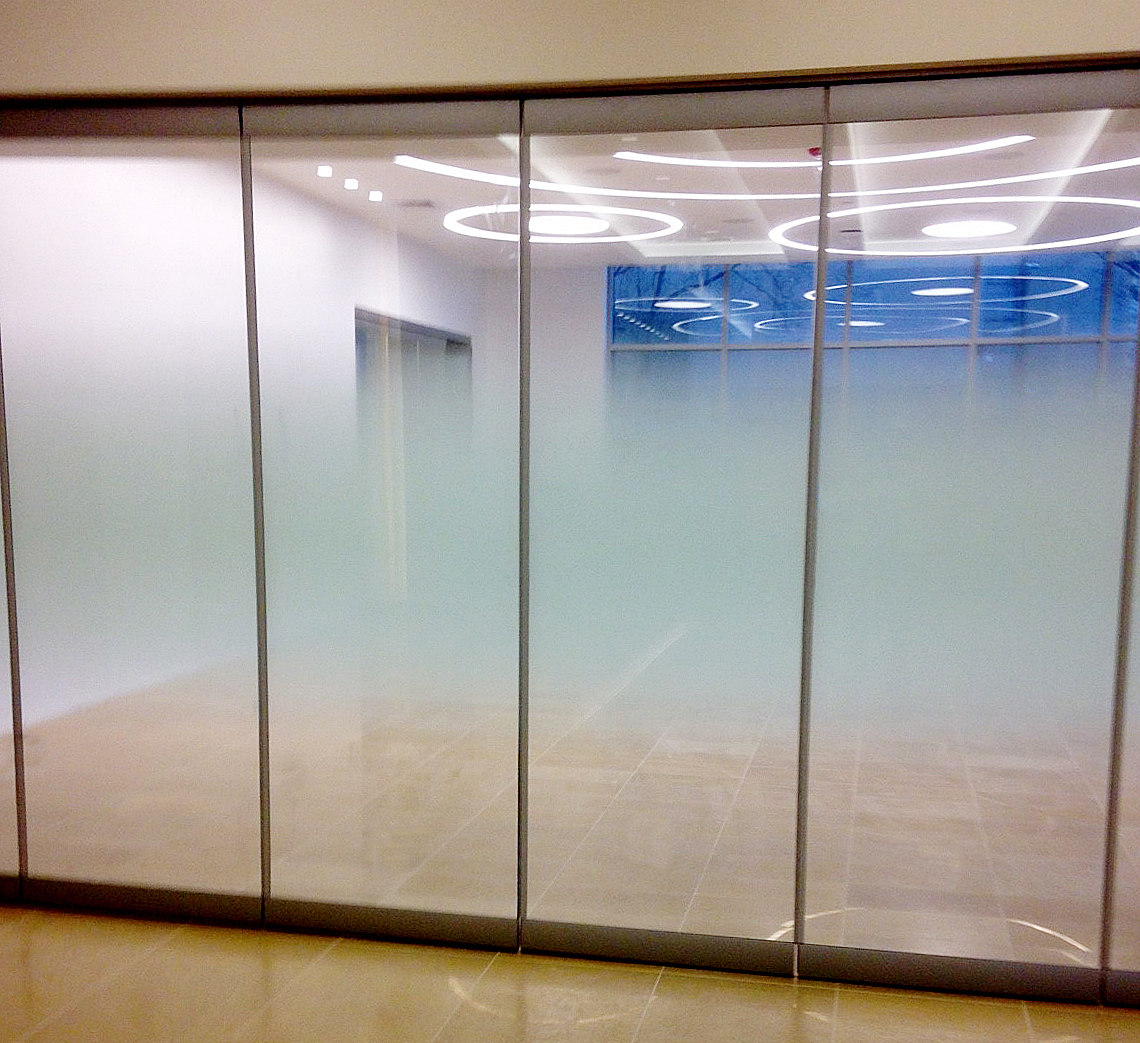 Clear glass wall