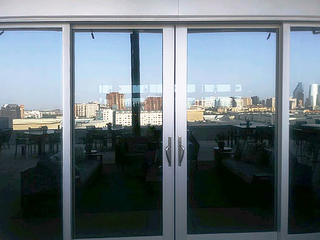 Multi-Track Sliding Glass Door