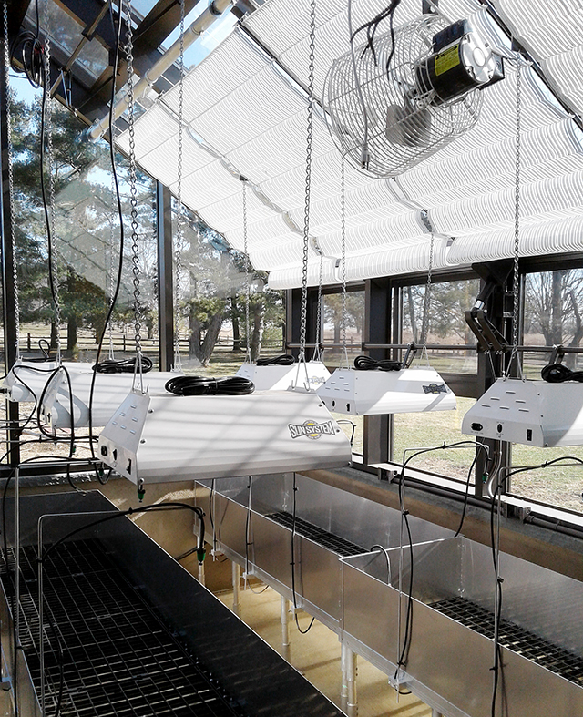 Private residence: Straight eave double pitch greenhouse
