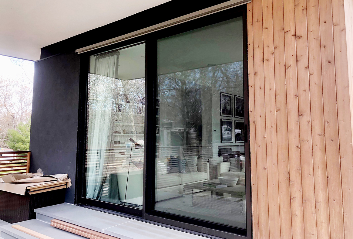 Complete glazing package with Multi-track sliding door and window systems, terrace doors
