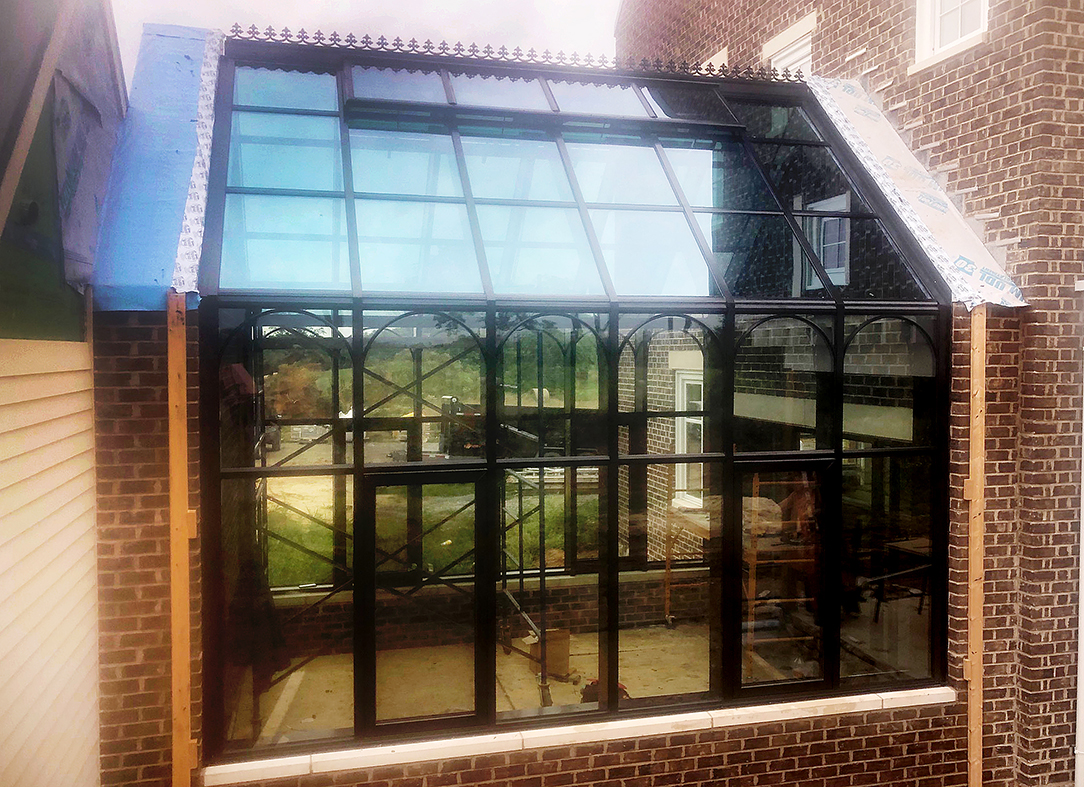 Straight eave double pitch sunroom