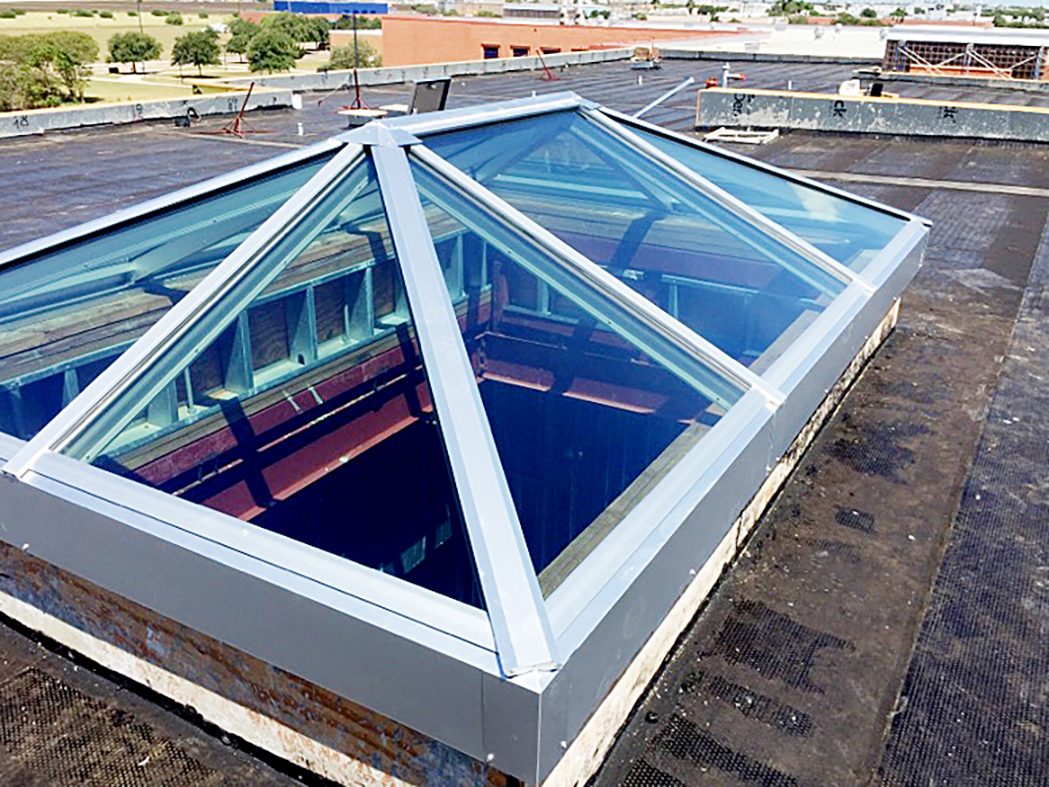 Double pitch skylight