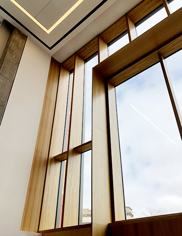 Two wood curtain wall systems