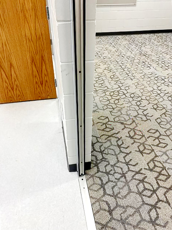 Slide and Stack Door System with Horizontal Mullions