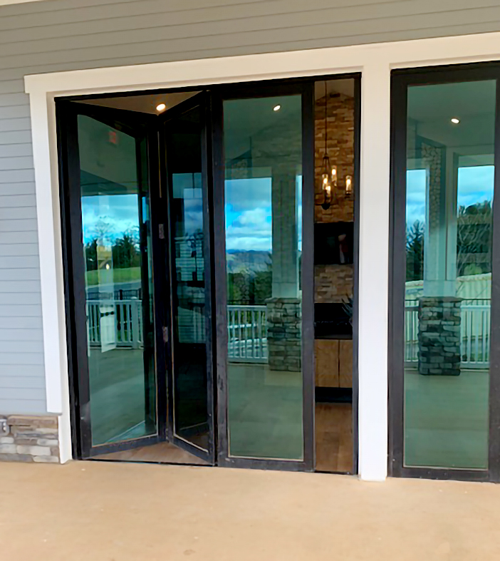 Two sets of bifold doors