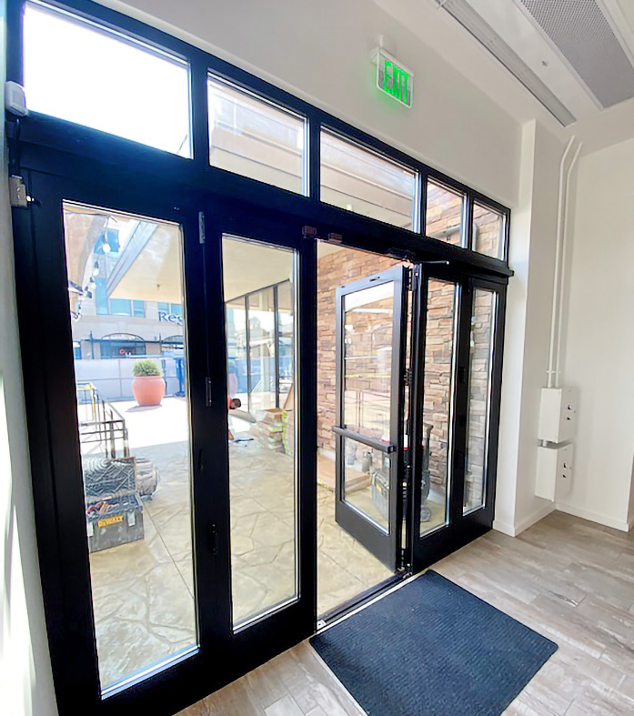 Six Bifold Door Systems with Transoms