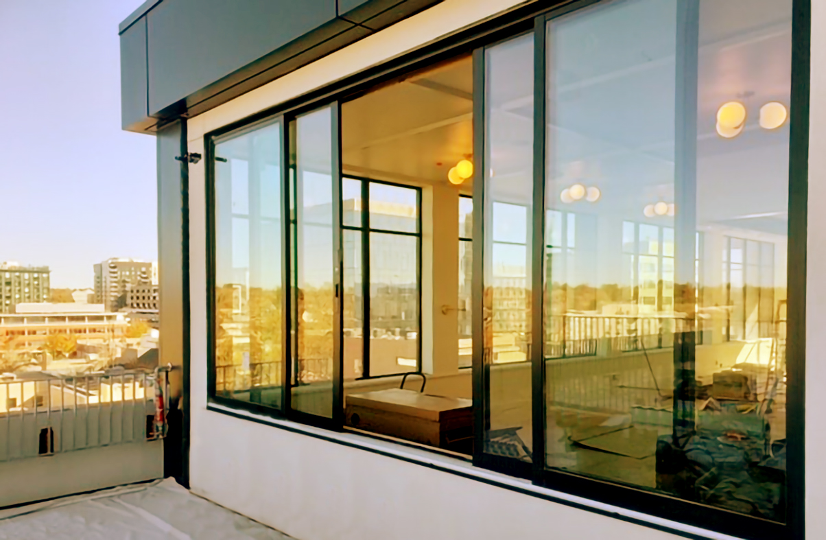 Multi-track sliding glass windows