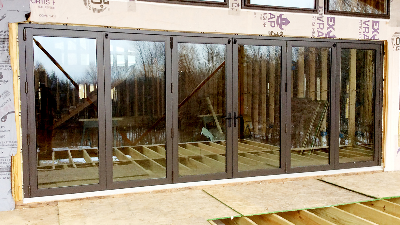 One set of bifold windows and one set of bifold doors