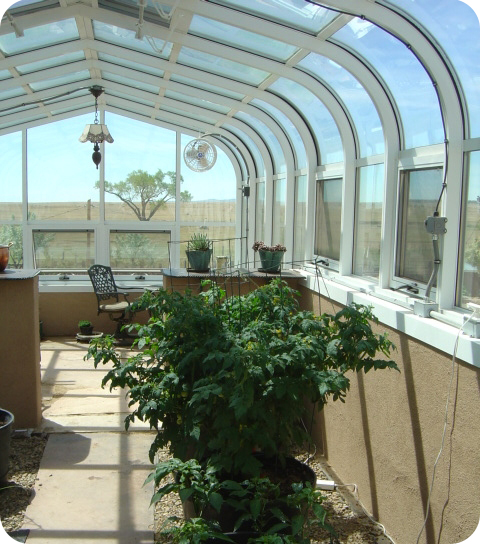 Residential CEDP Greenhouse Interior