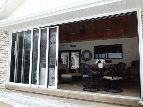 Multi sliding glass doors gallery glass door design for Exterior multi track sliding doors