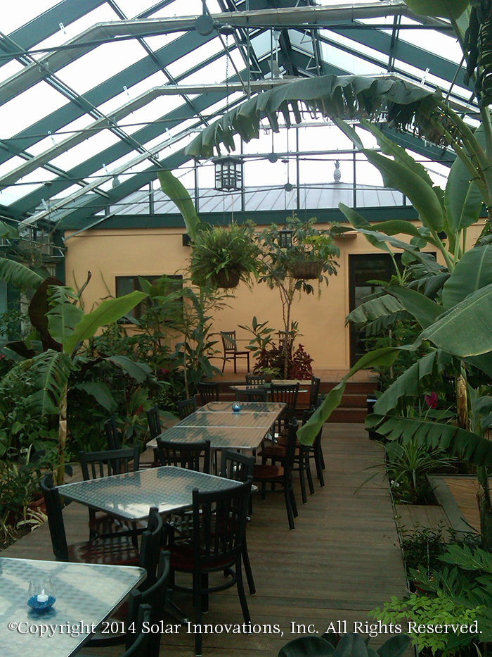 greenhouse dining area