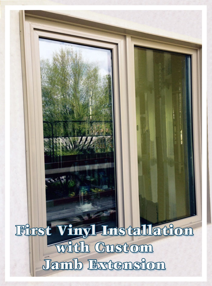 New Vinyl Window Installation