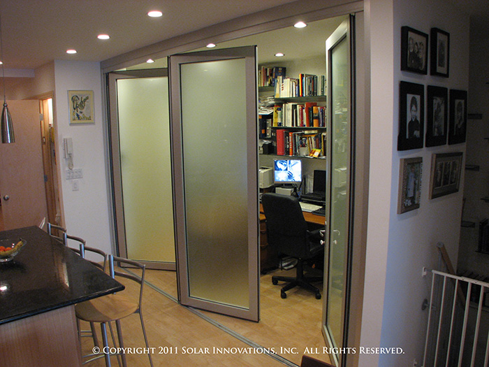 Folding Glass Walls used to create a home office