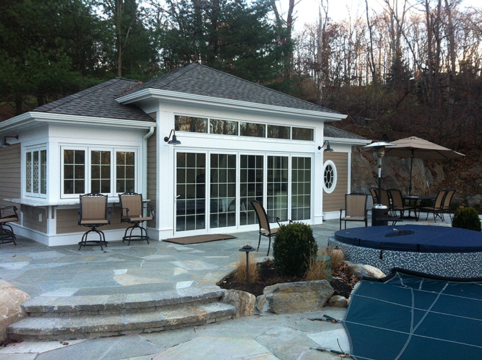 Conservatories utilized as pol houses or pool enclosures