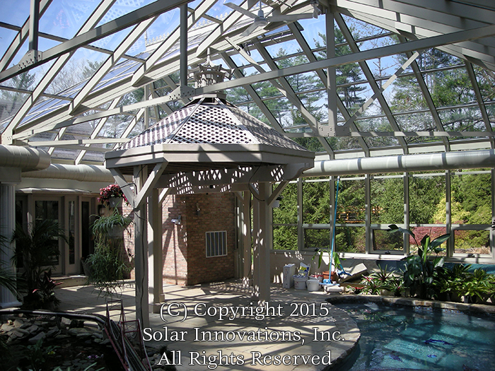 Creative Custom Solutions for Pool Enclosures by Solar Innovations, Inc.