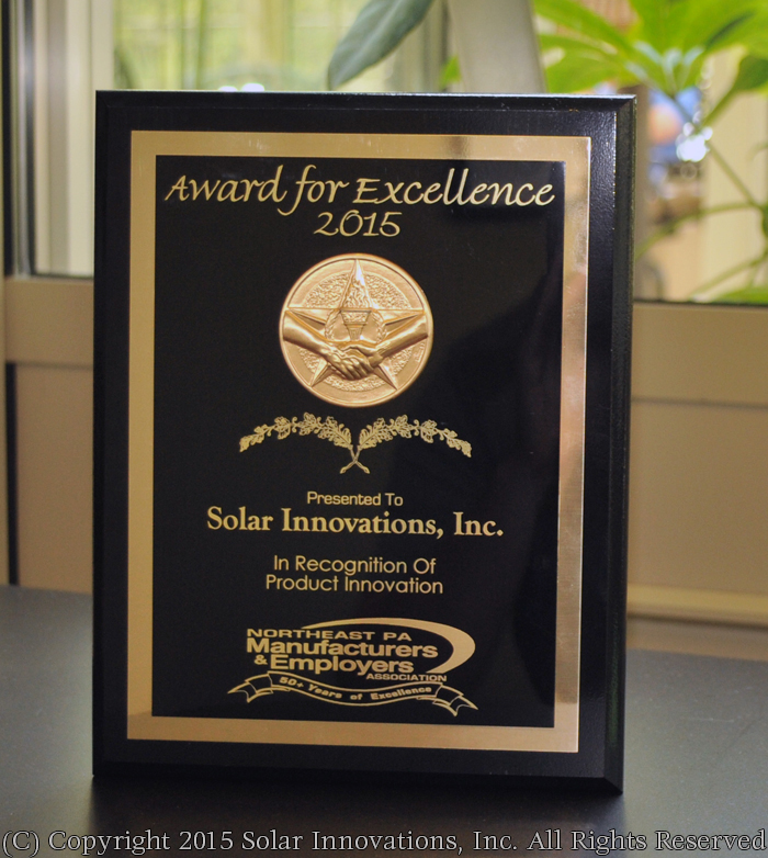 Solar Innovations, Inc. receives NEPAMAEA Product Innovation Award