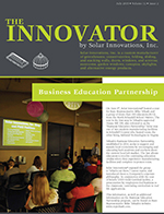 Solar Innovations, Inc. July 2015 edition of Newsletter The Innovator