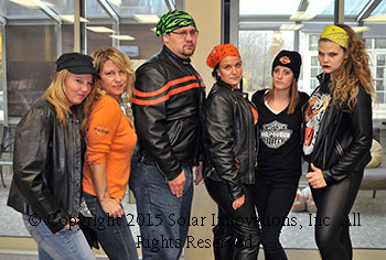 Biker Group at Solar Innovations, Inc. Halloween extravaganza