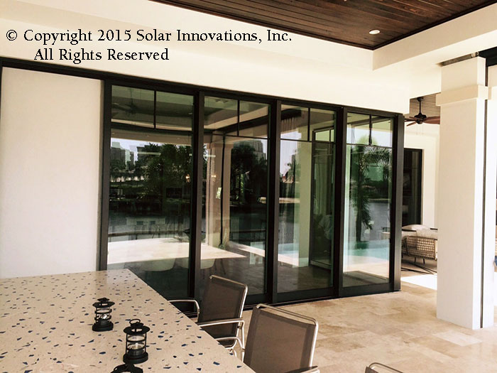 Ninety Degree No post sliding door by Solar Innovations, Inc.