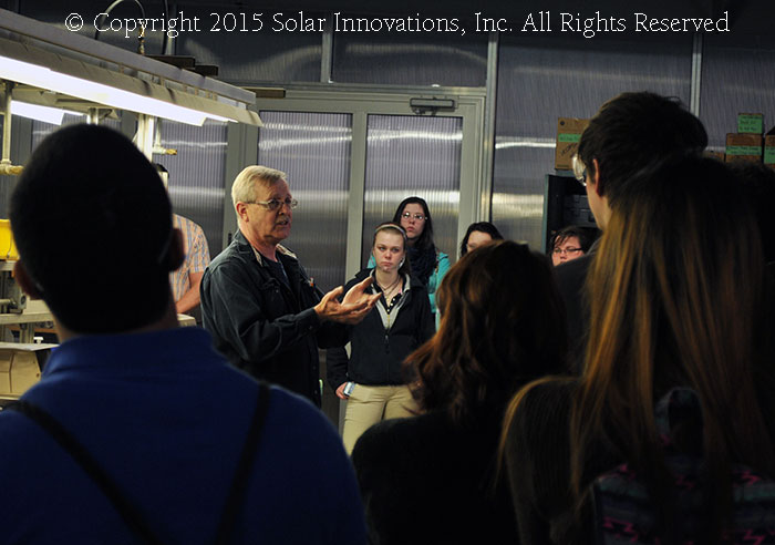 The YES tour at Solar Innovations, Inc.